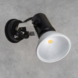 画像1: 【2年保証】屋外用LEDスポットライト16W 160W形 +取付器具(屋内外兼用ライト)