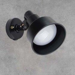 画像1: 【2年保証】屋外用LEDライト20W 180W相当形 +取付器具(本体色ブラック)