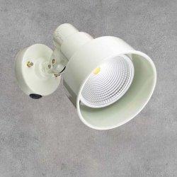 画像1: 【2年保証】屋外用LEDスポットライト16W 160W形 +取付器具(本体色ホワイト)