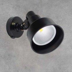画像1: 屋外用LEDスポットライト16W 160W形 +取付器具(本体ブラック)