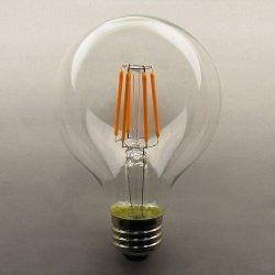画像1: フィラメントLED電球6Wボール80調光対応 口金E26 2300K 濃い電球色