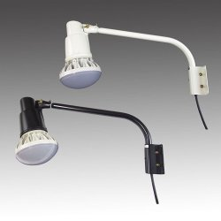 画像1: 屋外用LEDライト50W 口金E39 昼白色(白色)500W相当形 + ショートアーム(アーム長さ 465mm)